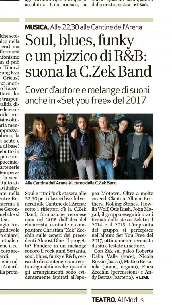The C.Zek Band a le Cantine De l'Arena